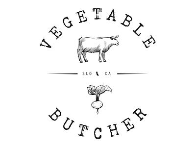 Vegetable Butcher Logo illustration vectorart logo