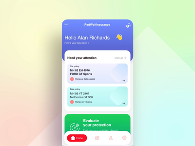 Insurance app - Prototype - Adobe XD insurance ux productdesign aftereffects interaction ui adobe xd user experience design