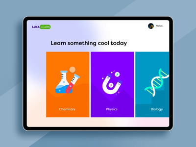 Science learning app adobe xd productdesign concept creative ux userinterface activities science elearning graphic design motion graphics aftereffects animation technology branding user experience interaction design