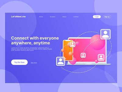 Landing Page design landing page user interface ux ui design ui
