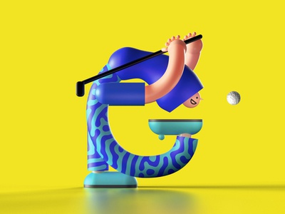 Letter G letter typography characterdesign 3d design illustration 36daysoftypea 36daysoftype
