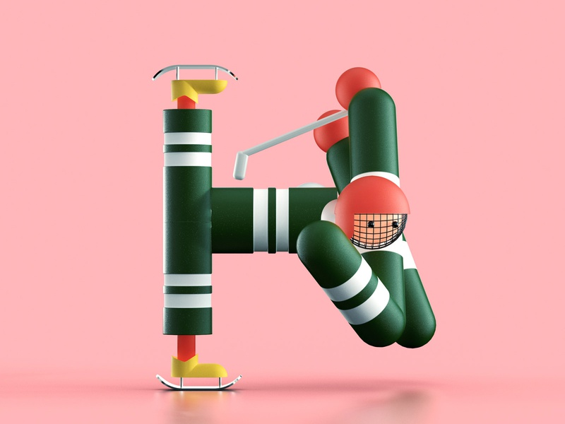 Letter H characterdesign design typography illustration 3d 36daysoftypea letter 36daysoftype