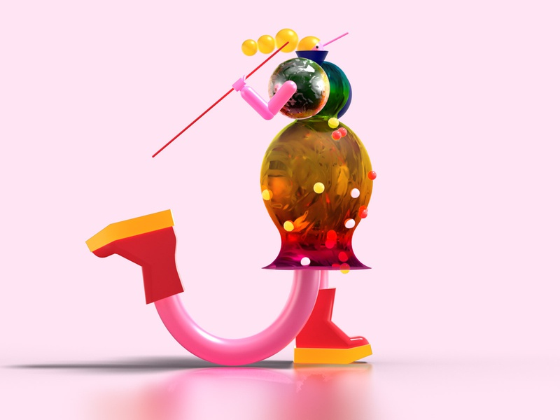 Letter J 3d design 36daysoftypea characterdesign letter 36daysoftype typography