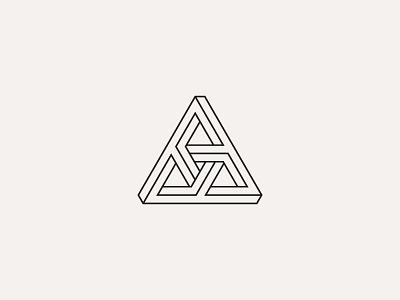 AAA Monogram interior design logo design branding minimalist minimalism monogram outline personal shapes symbol geometry finance brand identity architecture adobe illustrator