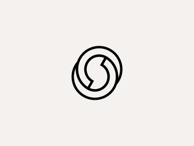 S vector design clean logo branding minimalist minimalism monogram outline shapes symbol geometry brand identity architecture adobe illustrator