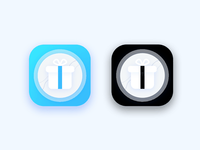 Gift Icon icons style shadow shutdown black blue present ui clean color icon gift