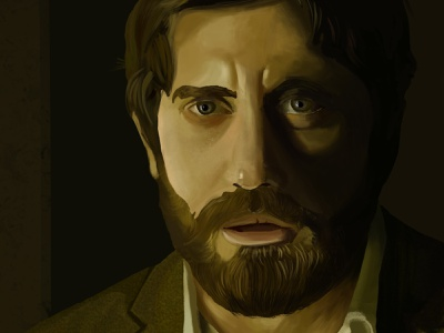 Jake Gyllenhaal photoshop portrait painting portrait illustration portrait art portrait painting illustration digital painting digital illustration digital art