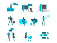 Digital Transformation Illustrations