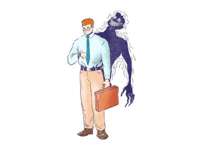 Savage demon average evil monster character design illustration savage
