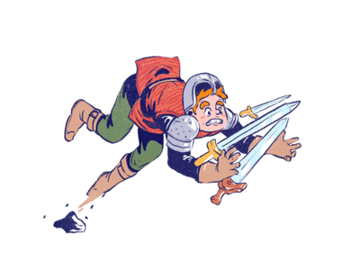 Squire procreate sword clumsy character design character quest squire