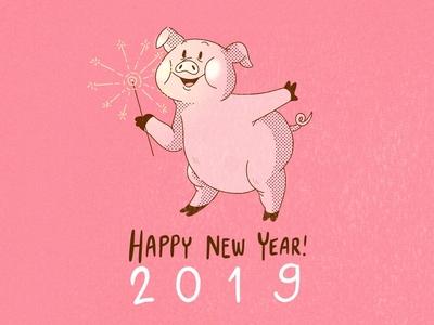Happy New Year 2019 happynewyear pig yearofthepig