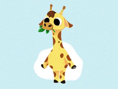 Giraffe cute illustration giraffe