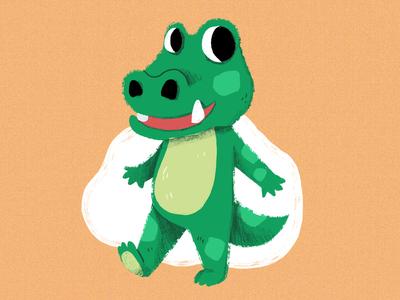 Crocodile cute illustration crocodile