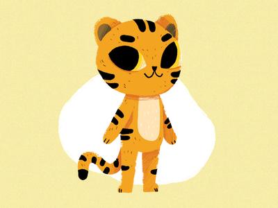 Tiger illustration procreate character design cute cat tiger