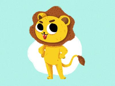 Lion procreate character design illustration lion