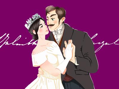 Victorian Love Letters exhibition london goethe institut illustration letter love king queen albert victoria