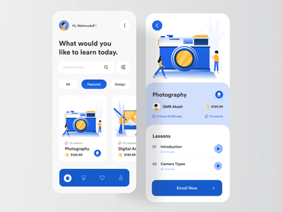 Course Mobile App UI 🔥🔥 popular trending graphics trending graphics trending design trending ui uxdesign uidesign uiux modern design creative design popular design popular shot app designer app design agency website agency landing page 2020 trend