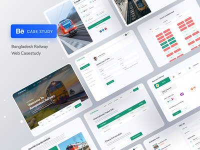 Bangladesh Railway Web Casestudy 🔥 trending graphics trending design trending ui creative design best designer best design app design case study transportation design train redesign uidesign website design webdesign uiux landing page landingpage agency website agency landing page 2020 trend