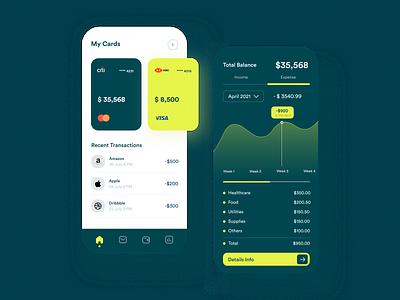 Finance Mobile Banking App popular trending app design mobile app mobile ui fintech app banking budget bank app app mobile app design mobile banking app service clean ui concept uiux