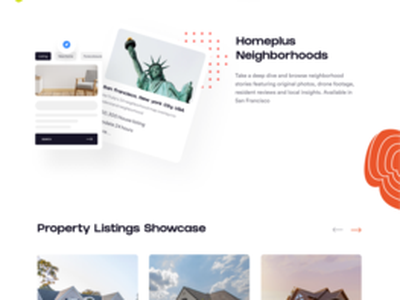 Real Estate Homepage uiux clean ui redesign ux ui real estate apartment home rent minimalist property realestate landingpage concept web design house