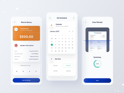 Finance mobile banking app 💸 banking mobile ui bank app graphic design clean minimal finance money best shot uiux app popular ui design mobile app design fintech concept clean ui