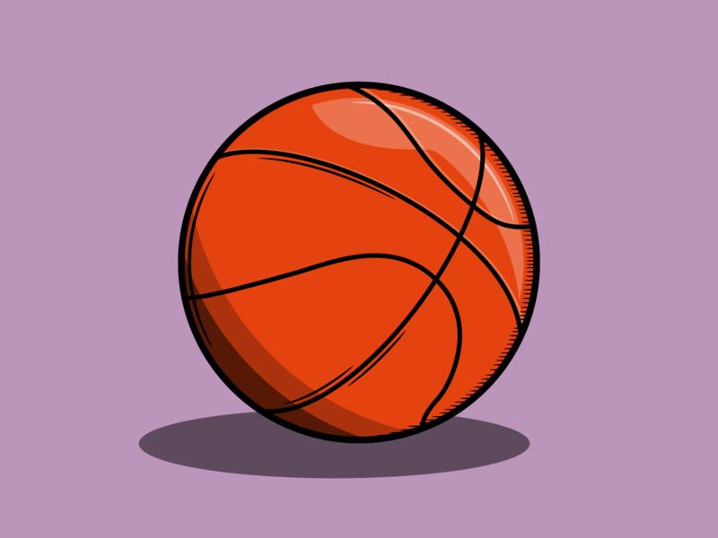 Basketball bball basket ball basketball sport american vector minimal illustration flat design