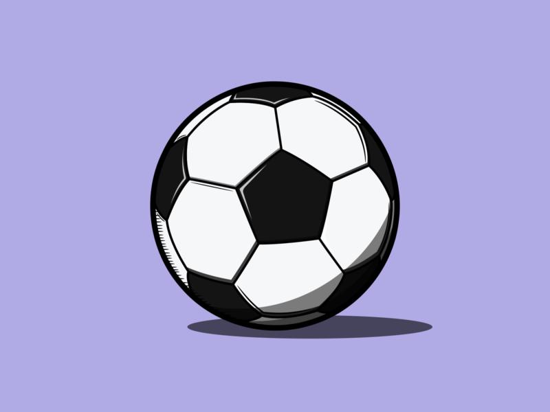 Football ball soccer ball football ball soccer football sport vector minimal illustration flat design