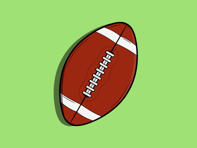 American Football ball american football football american sport vector minimal illustration flat design