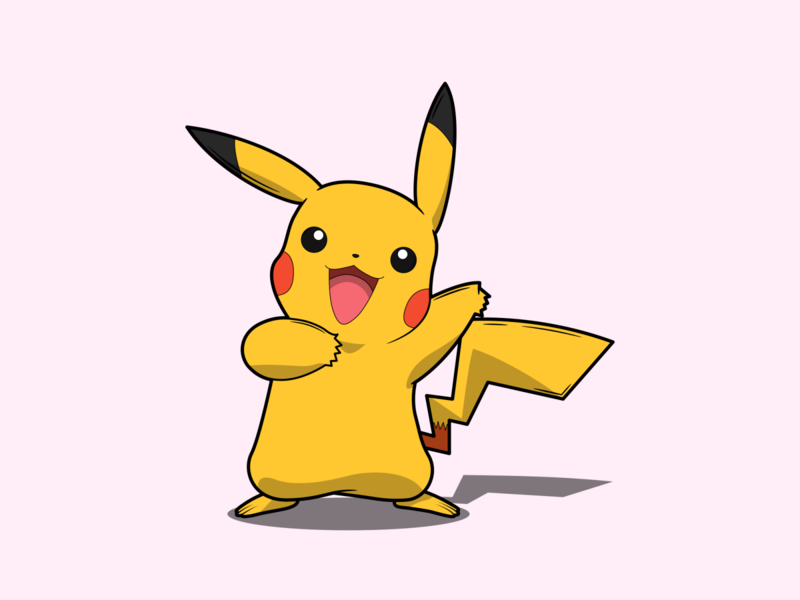 Pikachu pika pikachu pokemon go pokemongo pokémon pokemon vector minimal illustration flat design