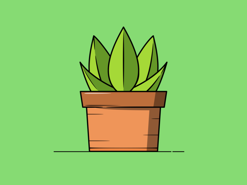 House Plant potted plant potted pot greenery green plant illustration plants nature illustration nature art nature plant vector minimal illustration flat design