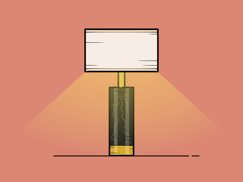 Lounge Lamp interior designer illuminate bright interiordesign light interior design architecture house design household house lamps lamp vector minimal illustration flat design