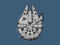 Millennium Falcon chewbacca george lucas han solo starship spaceship millenium falcon millennium falcon star wars starwars vector minimal illustration flat design