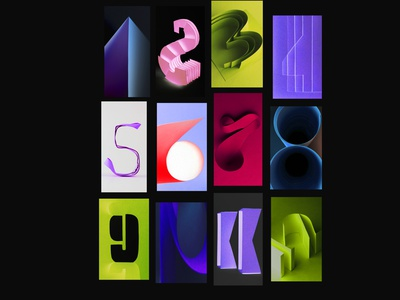 neon font numbers paper paper app calendar bright colorful challenge like graphicdesign font awesome new font design 3d neon photo number graphic font