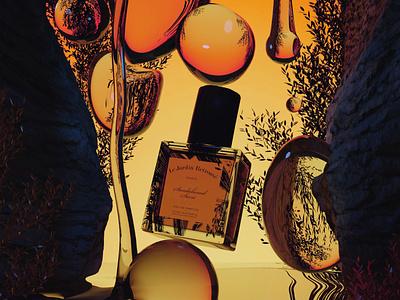 3D perfume water ui  ux branding design poster modeling graphic water liquid 3d photography