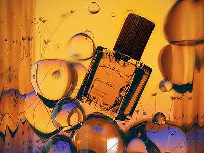 perfume branding branding identity logo poster blender design 3d art neon modeling graphicdesign graphic 3d