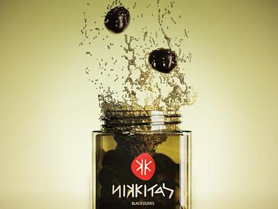 3D jar glass water design poster logo branding blender modeling 3d art graphicdesign graphic 3d olives