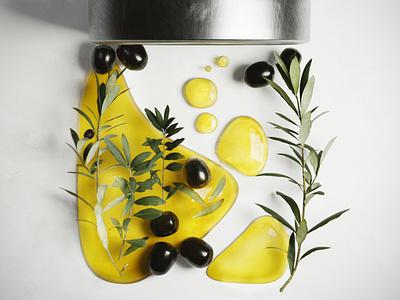olives 3D oil olive oil realistic render oil olive 3d animation logo branding blender poster design modeling graphicdesign graphic 3d