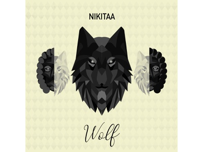 Cover art - Wolf illustration design graphic design