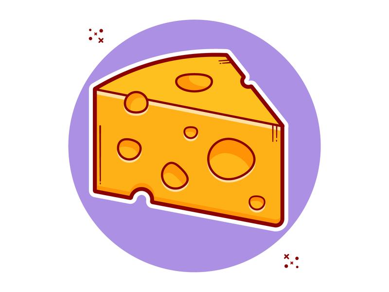 Cheese flat design illustraion vector illustration clipart cartoon minimal vector cute art illustration