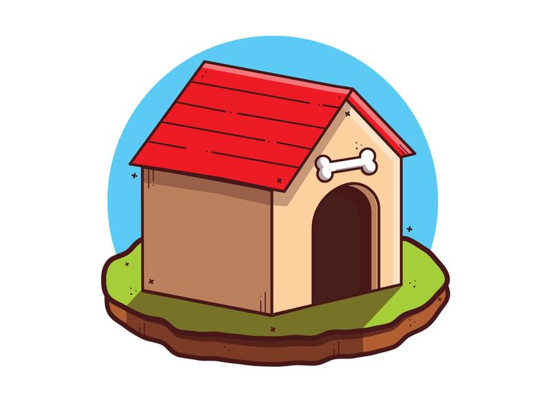 Dog  Kennel artwork illustraion vector illustration clipart minimal cute art illustration vector cartoon pet dog house kennel dog