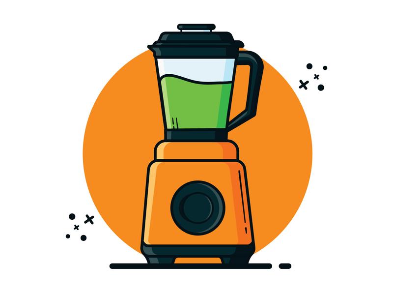 Blender artwork flat clipart vector illustration minimal cute art illustraion vector illustration grinder mixer blender