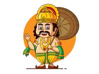 Mahabali Onam Wishes minimal flat design artwork cute art cartoon vector illustraion vector illustration illustration onam wishes mahabali maveli