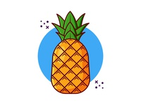 Pineapple design artwork cute art illustraion vector cartoon vector illustration clipart illustration minimal pineapples pineapple