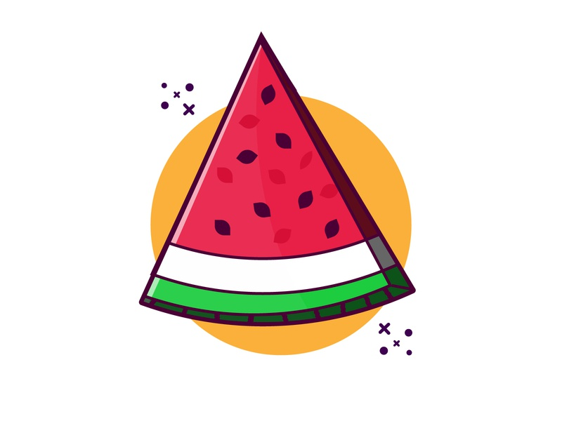 Watermelon artwork design clipart vector illustration illustration illustraion cute art cartoon vector minimal summer watermelon
