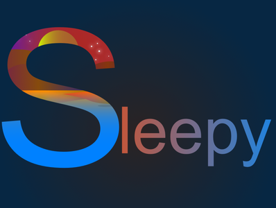 Sleepy branding logo design vector icon logo