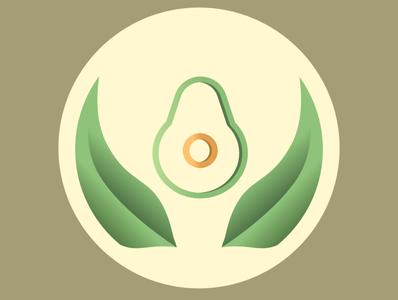 Avocado indesign illustrator logo design sketch art