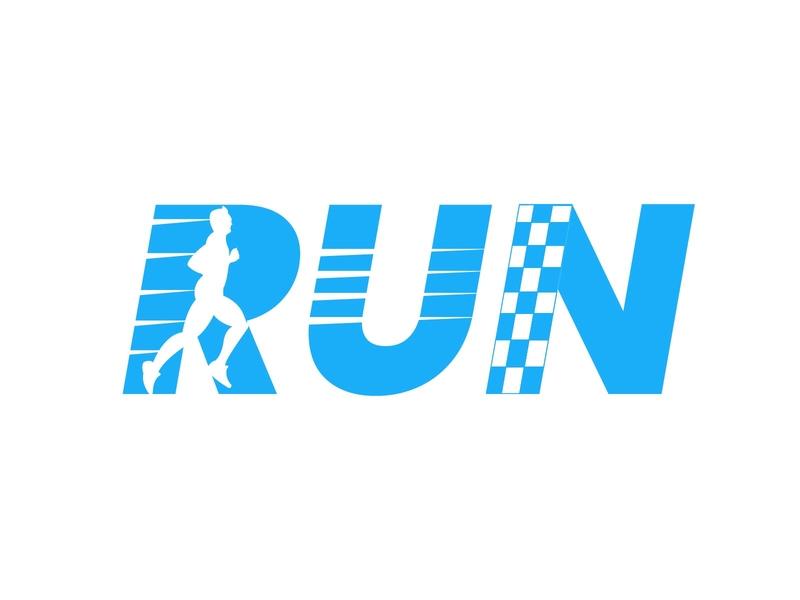 Run Logo vector illustration logo design