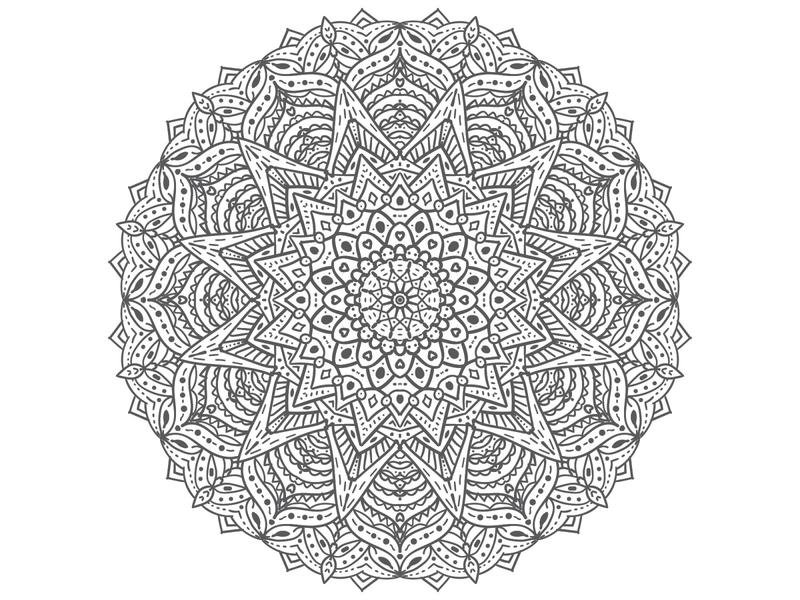 Mandala vector flat illustration design