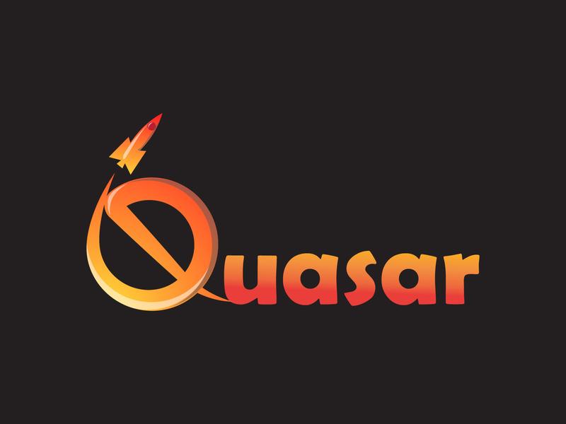 Rocketship Logo vector typography flat illustration logo design