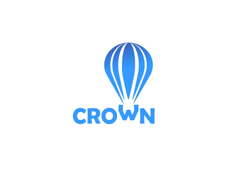 Hot Air Balloon logotype flat vector illustration logo design